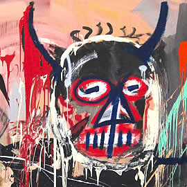 Jean-Michel Basquiat Untitled 1982 - detail
