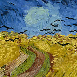 Van Gogh Wheatfield with crows 1890 - detail