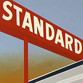 Ed Ruscha Standard Station 1966 screenprint - detail